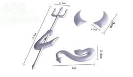The Devil - 666 - logo (1 metalchrome decal set)