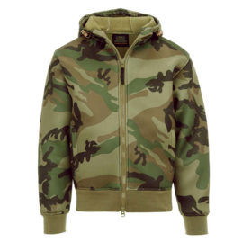 Hoodie Thermo Vest  - Camouflage/Black/Green - Lightweight CWU