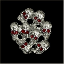 P204 - Pin - A Bunch of Skulls with Red Eyes