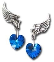 Alchemy - El Corazon (pair) - Stud Earrings / Swarovski
