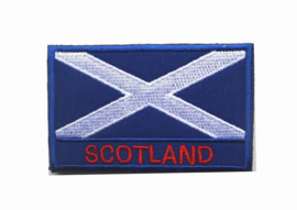 Velcro PATCH - Flag of Scotland (blue/white)