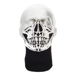 Bandero Face Mask - Skull Black - Long Neck
