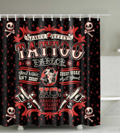 Shower Curtain / Room Divider - Sailor Betty's Tattoo Parlor