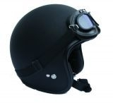 Demm - Biker Jet helmet - Flat Black - Spider - ECE 22.05