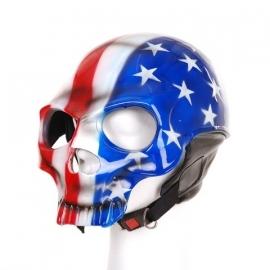 Biker helmet Full Skull USA