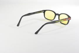 Sunglasses - Classic KD's - FLAMES - Yellow