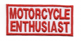 Patch - Motorcycle Enthusiast - Red & White