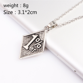 One Percent - 1% - Stainless Steel Pendant  [small]