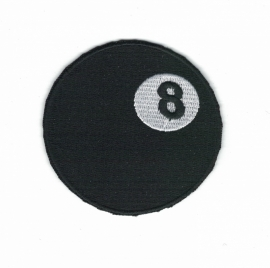 161 - Patch - 8 ball - black outline