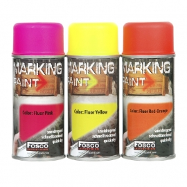 MARKING SPRAY FLUOR PAINT 150 ML. (6-pack) (choose your color)