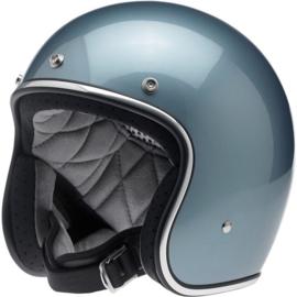 BiltWell Bonanza Helmet - Gloss Blue Steel (DOT)