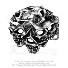 Belt Buckle - Alchemy - Graveyard - Gestald Skulls