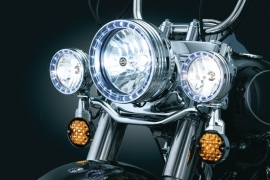 KURYAKYN LED HALO PASSINGLAMPS TRIM RINGS - CHROME