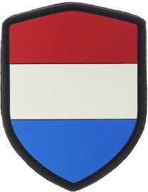 PVC & VELCRO PATCH - Shield - Dutch flag - Nederlandse vlag - Holland - the Netherlands