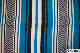 Mexican blanket -Blue White - Original Mexico