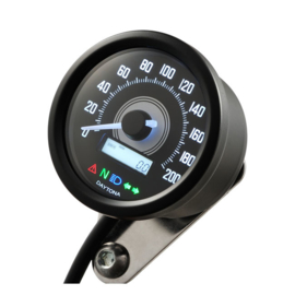 VELONA 60MM SPEEDOMETER BLACK 200KMH