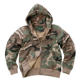 Hoodie with zipper - Kosumo - Woodland Camouflage