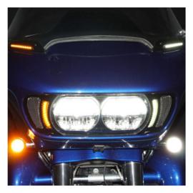 HD ROAD GLIDE LED VENT INSERTS GLOSS BLACK