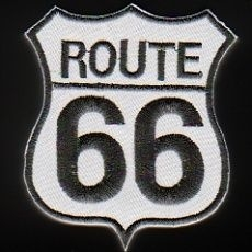 219 - Patch - Route 66 - White/Black