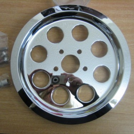 CHROME PULLEY COVER - 8 Holes - 70T - 00-05 DYNA