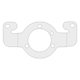 AIR CLEANER ADAPTER BRACKET With Keihin butterfly carb pattern
