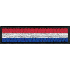 BLACK PATCH - Flash / Stick - Dutch flag - Nederlandse vlag - Holland - the Netherlands