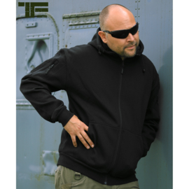 Tactical Hoodie with YKK zipper - Black
