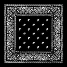 Bandana  - Black Paisley