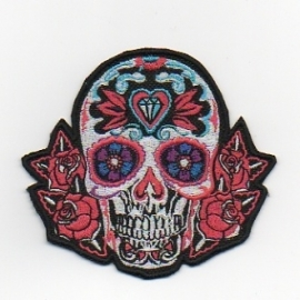 218 - Patch - Sugar Skull - Biker Patch