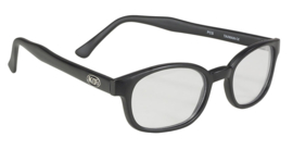 Larger Sunglasses - X-KD's  - CLEAR - Matte Black Frame