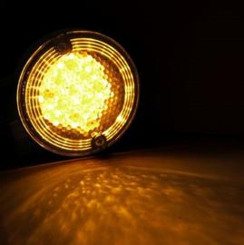 Set LED Front Turn Signals - Touring - Black