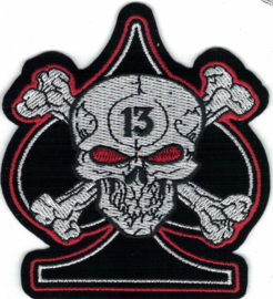058 - Patch - Skull and Crossed Bones - Ace of Spades - 13