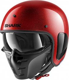 Shark S-Drak Glitter, jet helmet - RED matt sparkles - limited edition