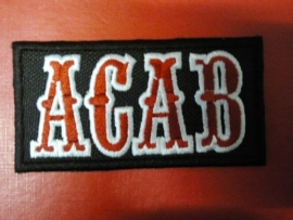 082 - Patch - ACAB - Black background, Red & White Letters