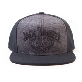 Jack Daniels - Snapback - Adjustable Cap - Tweed Look - Dark Grey & Black
