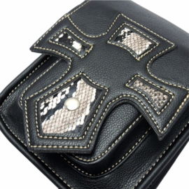 Cruisader Hip Bag - Snake & Black (PU-leather)