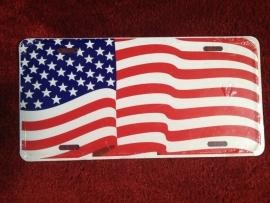 License Funny Plate - USA Flag