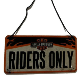 Wall plate - Harley-Davidson Riders Only - hanging plate