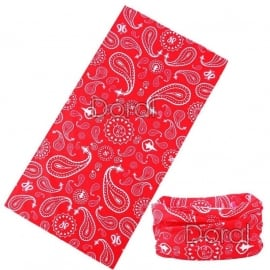 Red Paisley Tube / Tunnel