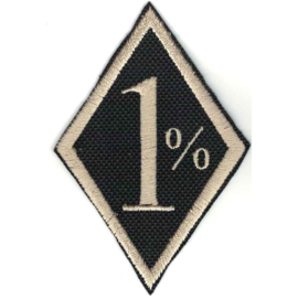 PATCH - golden diamond - 1 % - Onepercenter - One percent - Procent