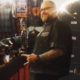 Black Cordura & Leather California MC Vest - (Half  Sleeve)