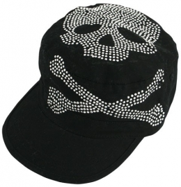* Lady Cap, Black, Highway Honey™, Skull Studs