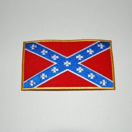 131 - PATCH- Confederate flag - Rebel Flag with Maltese Crosses