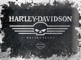 Harley-Davidson - Tin Sign - H-D SKULL