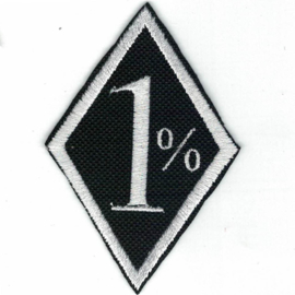 Patch - 1% - One Percenter - 'Bad Biker' - Black
