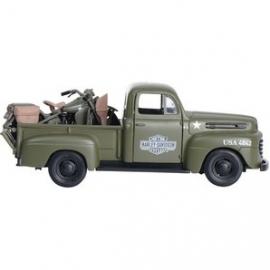 Harley-Davidson - FORD 1948 HD PICKUP &  1942 FL Panhead  - Army Green