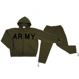 Training Track Jogging Suit - ARMY GREEN - HEAVY