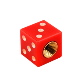 Valve Caps - Solid Red Dice