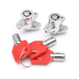 HD Saddlebag Locks - 3 Red Keys
