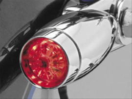 Red LED Strut Mount Mini Bullets - Clear & Red lens (pair)